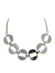 Monet Polished Silver Oval Link Necklace Metallic