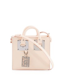Sophie Hulme Albion Leather Box Tote Bag Light Pink