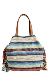 Billabong 'Playa Del Vacay' Woven Fringe Tote Blue Multi