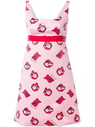 Au Jour Le Jour Lips Print Sleeveless Dress Pink And Purple