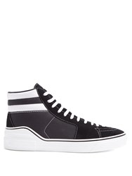 Givenchy High Top Suede And Canvas Trainers Black Multi