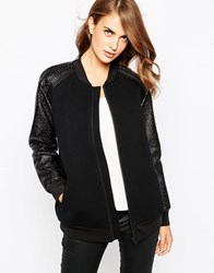 Finders Keepers On The Run Bomber Jacket Black