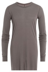 Rick Owens Men Long Sleeved Top With Silk Grey