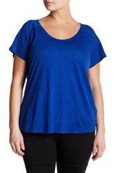 Z By Zella Scoop Neck Tee Plus Size Blue