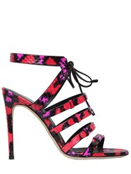 Sergio Rossi 105Mm Zoe Elaphe Sandals