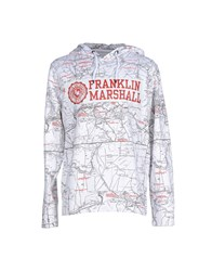 Franklin And Marshall Topwear Sweatshirts Men White