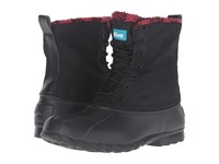 Native Jimmy Winter Jiffy Black Red Plaid Shoes