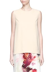 Lanvin High Neck Crepe Sleeveless Top Neutral