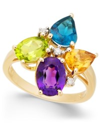 Macy's Multi Gemstone 4 Ct. T.W. And Diamond Accent Ring In 14K Gold