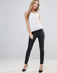Only Simple Jane Faux Leather Leggings Black