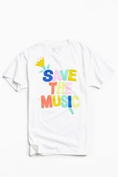 Urban Outfitters Uo Vh1 Save The Music Tee White