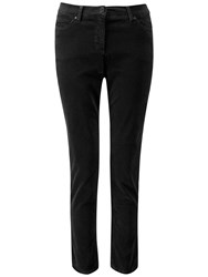 Pure Collection Wash Velvet Cropped Jeans Black