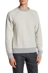 Billy Reid Aaron Long Sleeve Crew Neck Tee Gray