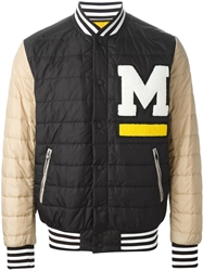 Msgm Padded Varsity Jacket Black