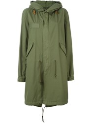 Mr And Mrs Italy Slim Fit Hooded Midi Parka Green