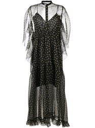 Petar Petrov Polka Dot Sheer Dress Black