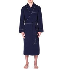 Derek Rose Cotton Robe Navy