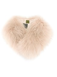 Mr And Mrs Italy Fur Collar Nude Neutrals