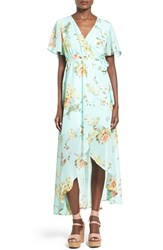 Women's June And Hudson Floral Print High Low Wrap Dress