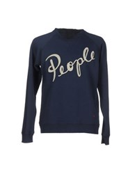 People Topwear Sweatshirts Men Dark Blue