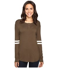 Culture Phit Braylin Long Sleeve Top White Olive Women's Clothing