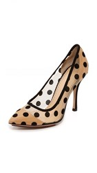 Charlotte Olympia Bacall Heart Shaped Pumps Black Nude