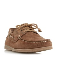 Bertie Beach Suede Lace Up Boat Shoes Tan