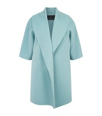 Marina Rinaldi Wool Shawl Lapel Coat Green