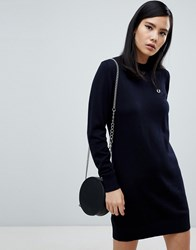 b6255d3035 Fred Perry Navy Knit Jumper Dress