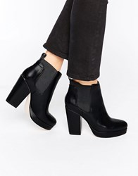 Asos Earth Chelsea Ankle Boots Black