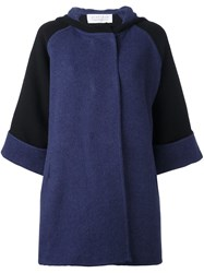 Gianluca Capannolo Shortsleeved Hooded Coat Black