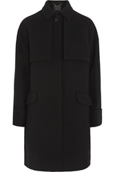 J.Crew Collection Avery Wool Blend Crepe Trench Coat Black