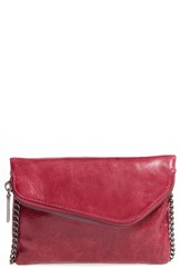 Hobo 'Daria' Leather Crossbody Bag Red