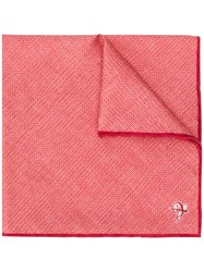 Canali Silk Pocket Square Orange