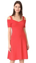 Three Dots Cold Shoulder Dress Hibiscus Red