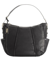 Tignanello Soft Touch Sueded Leather Hobo Black