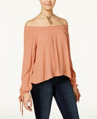 American Rag Off The Shoulder Peasant Top Only At Macy's Dusty Coral
