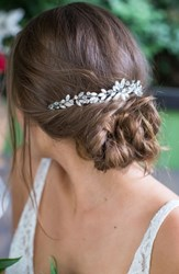 Brides And Hairpins Rhea Halo With Combs Classic Silver