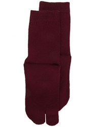 Maison Martin Margiela Tabi Socks Purple