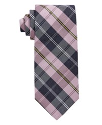 Brooks Brothers Men's Forsythe Plaid Classic Tie Pink