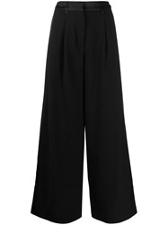 Andrea Ya'aqov Wide Leg Tailored Trousers Black