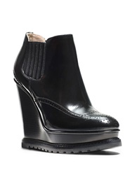 Michael Kors Collette Leather Wingtip Booties Black