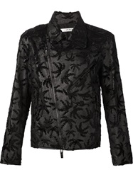 Julien David Embossed Palmtree Jacket Black