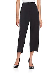 Lafayette 148 New York Silk Blend Cropped Pants Black