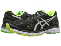 Asics Gel Kayano 23 Black Silver Safety Yellow Men's Running Shoes