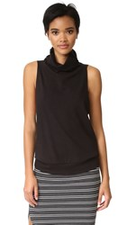 Lanston Turtleneck Sleeveless Tank Black