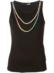 Love Moschino Braided Chain Embellished Tank Top