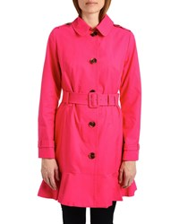 Kate Spade Belted Peplum Trench Coat Electric Pink