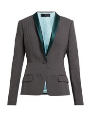 Haider Ackermann Shawl Lapel Single Breasted Cotton Blend Blazer Grey