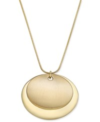 Charter Club Gold Tone Round Pendant Necklace Only At Macy's